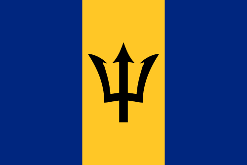 Download free vector flags of Barbados at VectorFlags.com
