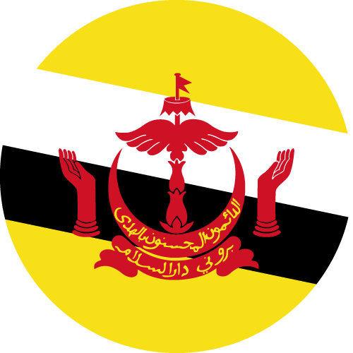 Download free vector flags of Brunei at VectorFlags.com