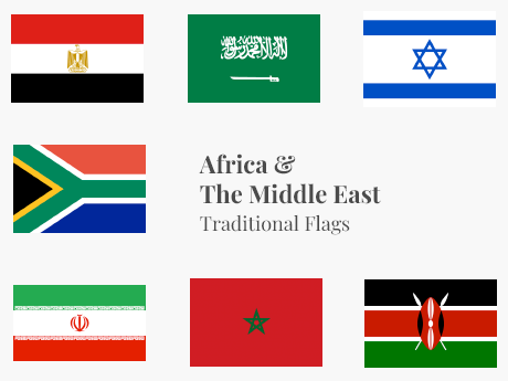 Africa & The Middle East Flag Bundle