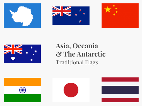 Asia, Oceania & Antarctic Flag Bundle