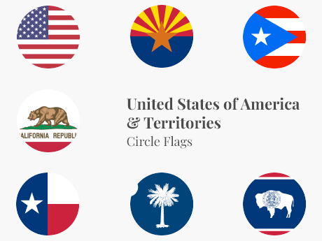 United States & Territories Circle Bundle