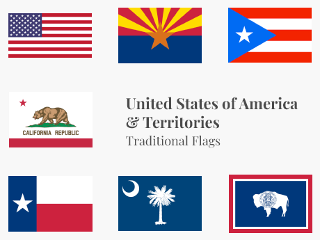 United States & Territories Flag Bundle