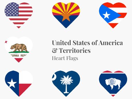 United States & Territories Heart Bundle