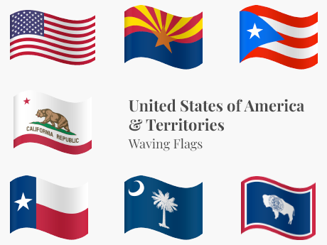 United States & Territories Waving Bundle
