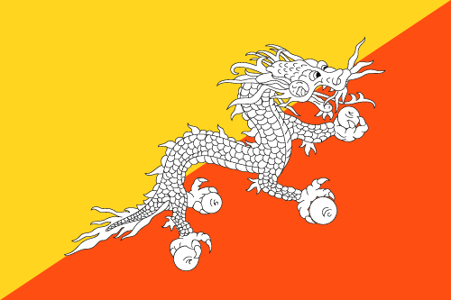 Download free vector flags of Bhutan at VectorFlags.com