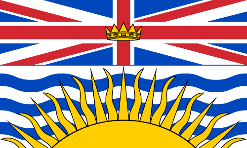 Download free vector flags of British Columbia at VectorFlags.com