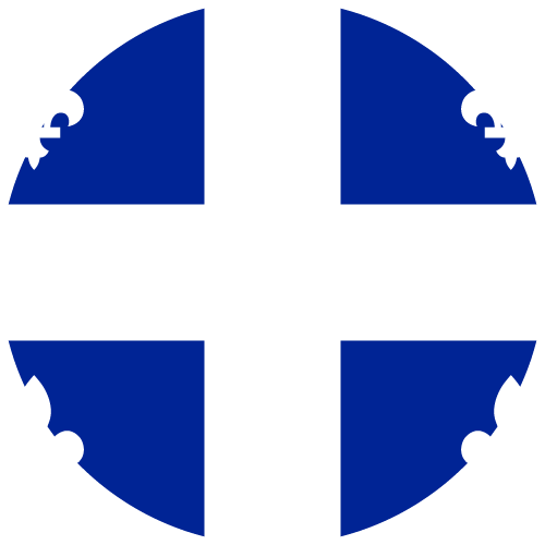 Vector Country Flag Of Quebec Circle Vector World Flags