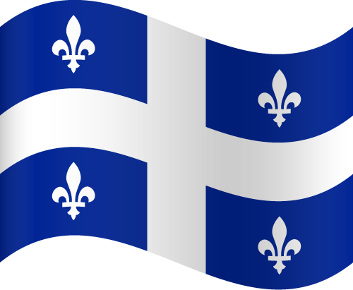 Vector Country Flag Of Quebec Waving Vector World Flags