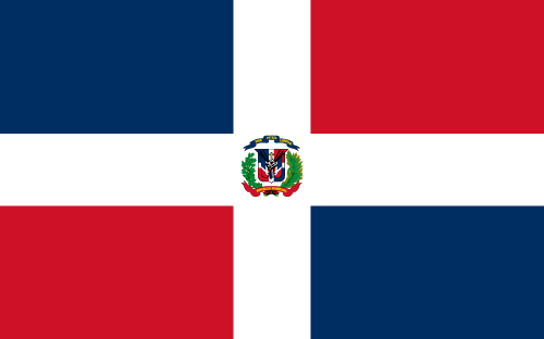 Download free vector flags of the Dominican Republic at VectorFlags.com