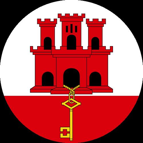 Vector Country Flag of Gibraltar - Circle   Vector World Flags