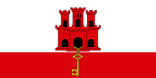 Download free vector flags of Gibraltar at VectorFlags.com