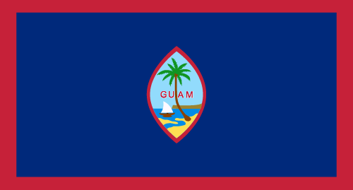 Download free vector flags of Guam at VectorFlags.com