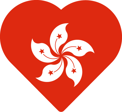 Free Vector Flag of hk-heart-01