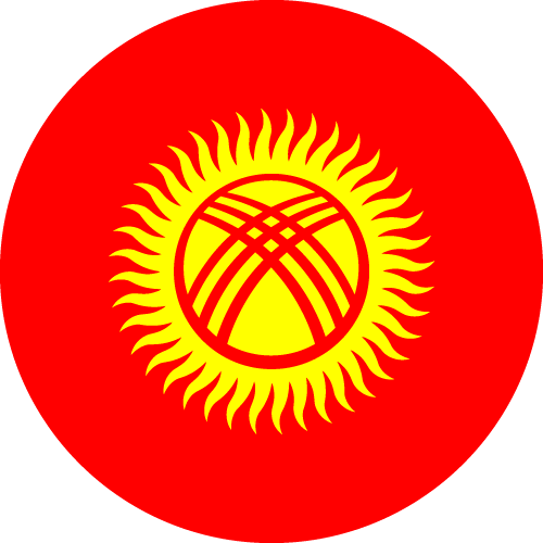 Download free vector flags of Kyrgyzstan at VectorFlags.com