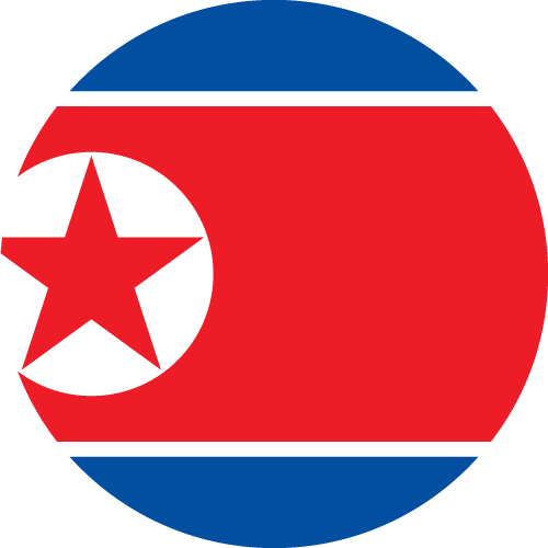 Download free vector flags of North Korea at VectorFlags.com