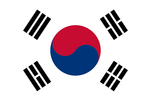 Download free vector flags of South Korea at VectorFlags.com
