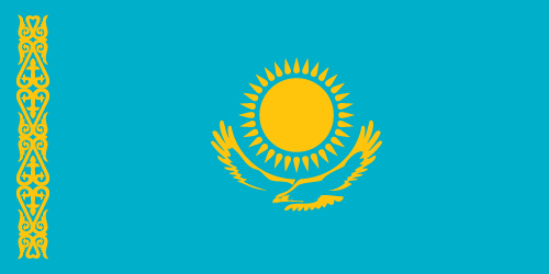Download free vector flags of Kazakhstan at VectorFlags.com