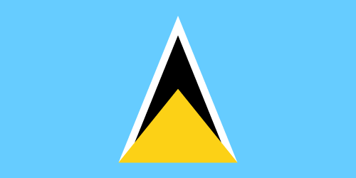 Download free vector flags of Saint Lucia at VectorFlags.com