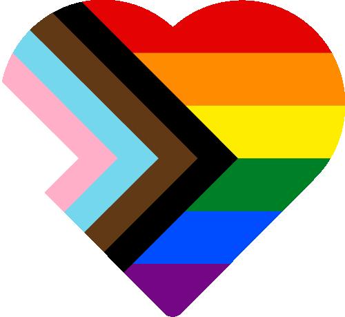 Free Vector Flag of org-lgbt-heart-02
