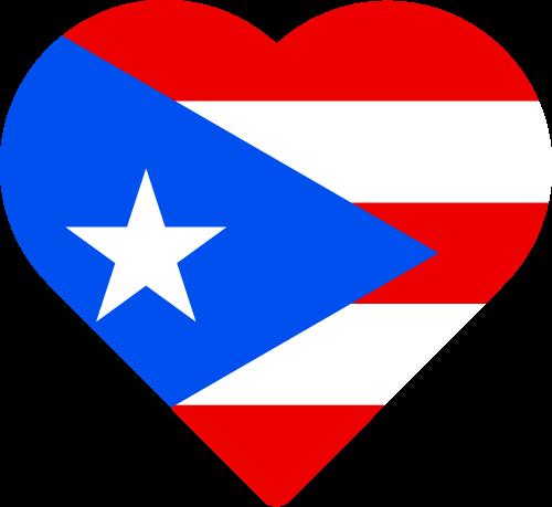 Free Vector Flag of pr-heart-01