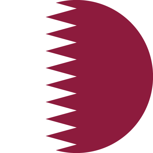 Vector Country Flag of Qatar - Circle | Vector World Flags