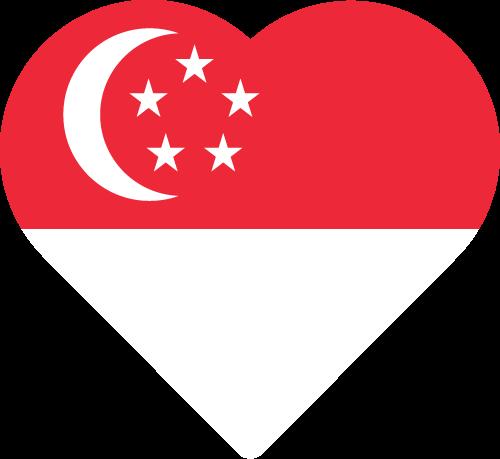 Free Vector Flag of sg-heart-01
