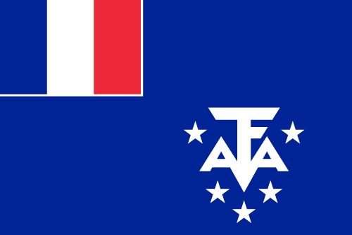 Download free vector flags of the French Southern and Antarctic Lands at VectorFlags.com