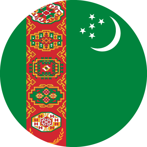 Download free vector flags of Turkmenistan at VectorFlags.com