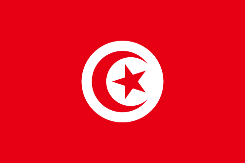 Download free vector flags of Tunisia at VectorFlags.com