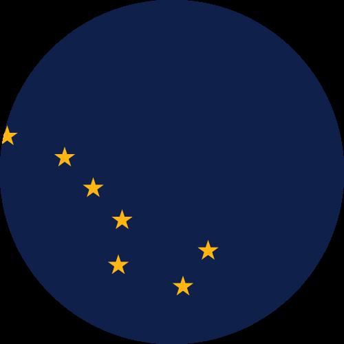 Download free vector flags of  Alaska at VectorFlags.com
