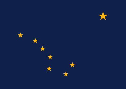 Download free vector flags of  Alaska at VectorFlags.com