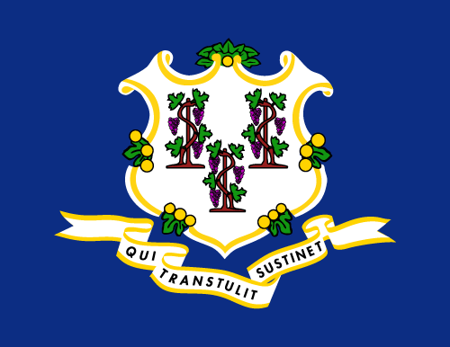 Download free vector flags of Connecticut at VectorFlags.com