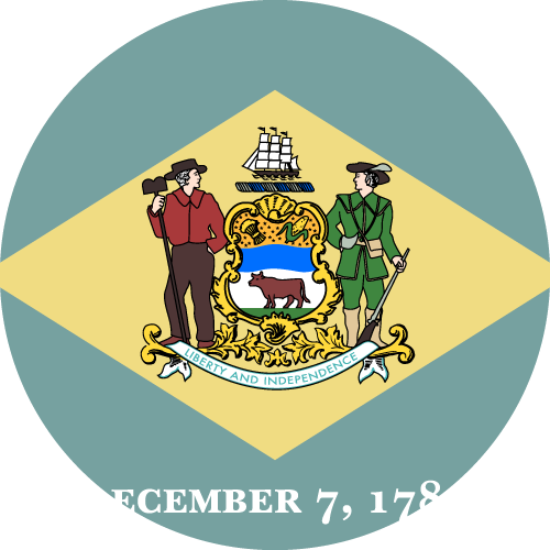 Download free vector flags of Delaware at VectorFlags.com