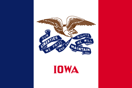 Download free vector flags of Iowa at VectorFlags.com