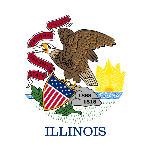 Download free vector flags of Illinois at VectorFlags.com