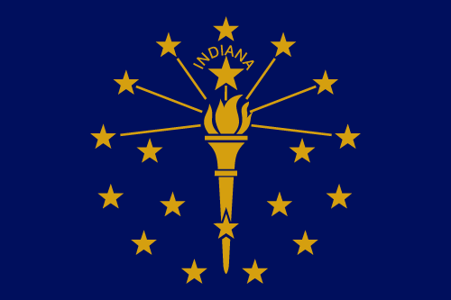 Download free vector flags of Indiana at VectorFlags.com