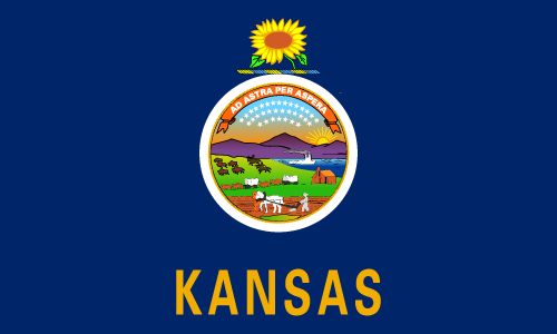 Download free vector flags of Kansas at VectorFlags.com