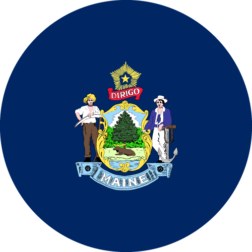 Download free vector flags of Maine at VectorFlags.com