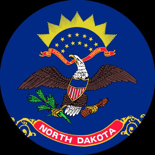 Download free vector flags of North Dakota at VectorFlags.com