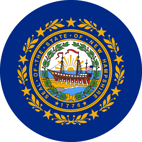 Download free vector flags of New Hampshire at VectorFlags.com