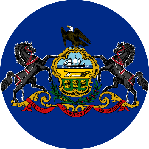 Download free vector flags of Pennsylvania at VectorFlags.com
