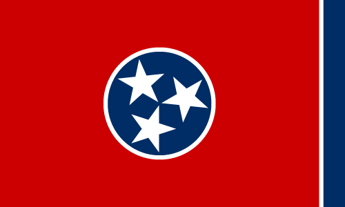 Download free vector flags of Tennessee at VectorFlags.com