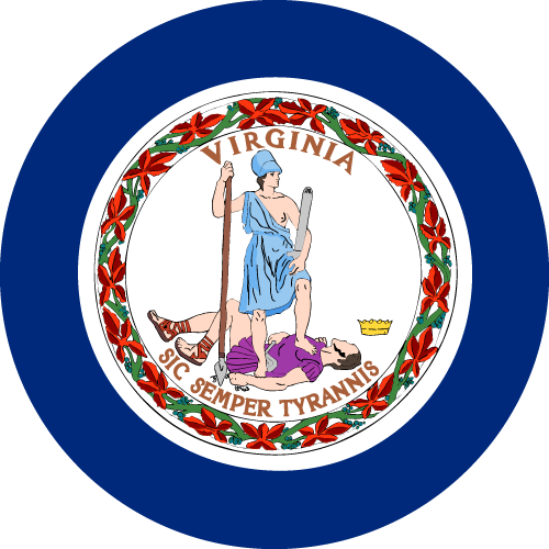 Download free vector flags of Virginia at VectorFlags.com