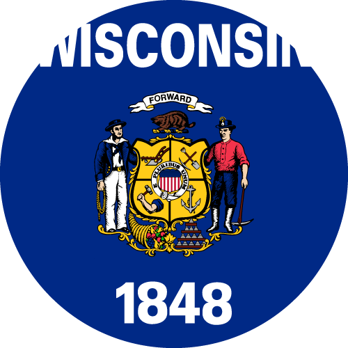 Download free vector flags of Wisconsin at VectorFlags.com