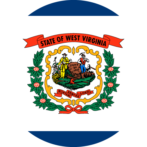Download free vector flags of West Virginia at VectorFlags.com