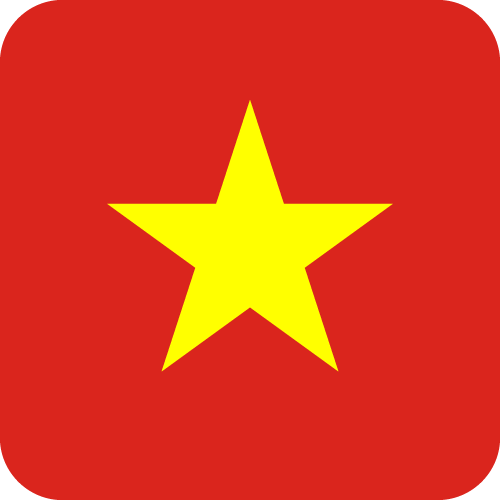 Vector Country Flag Of Vietnam Button Vector World Flags