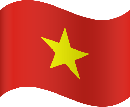 Vector Country Flag Of Vietnam Waving Vector World Flags